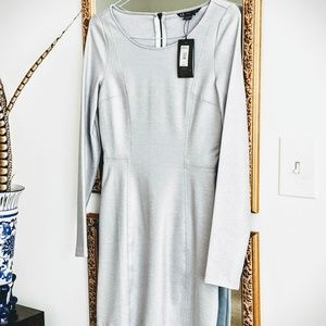 Armani Exchange NEW Light-Grey Shimmering Dress M